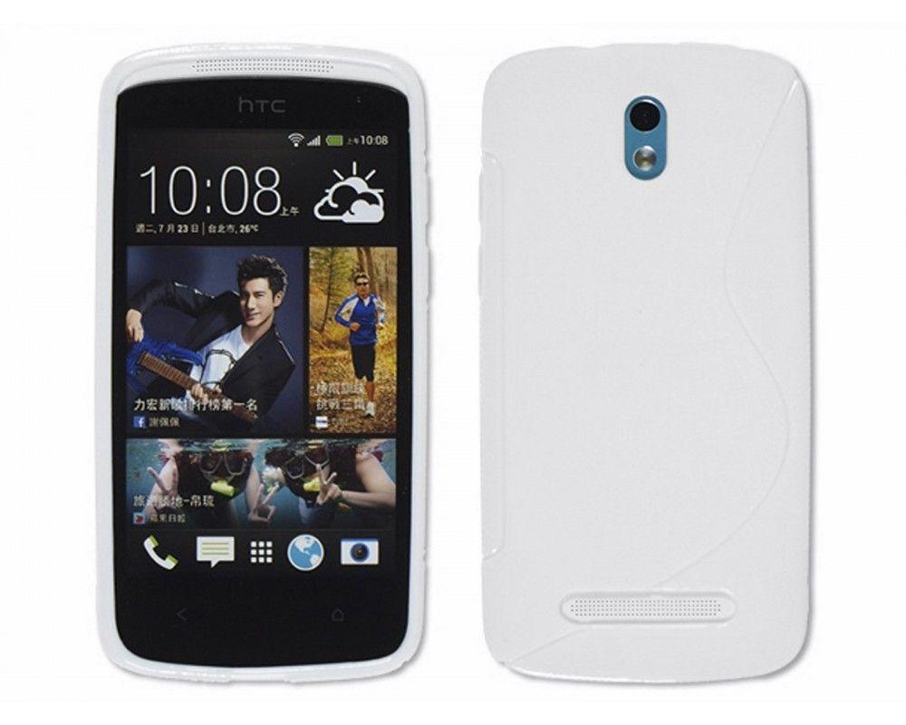 Funda Gel Tpu HTC Desire 500 S Line Color Blanca