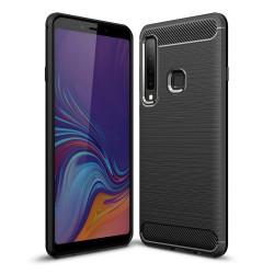 Funda Gel Tpu Tipo Carbon Negra para Samsung Galaxy A9 (2018)