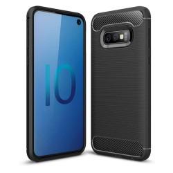 Funda Gel Tpu Tipo Carbon Negra para Samsung Galaxy S10e