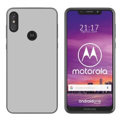 Funda Gel Tpu para Motorola One Color Transparente