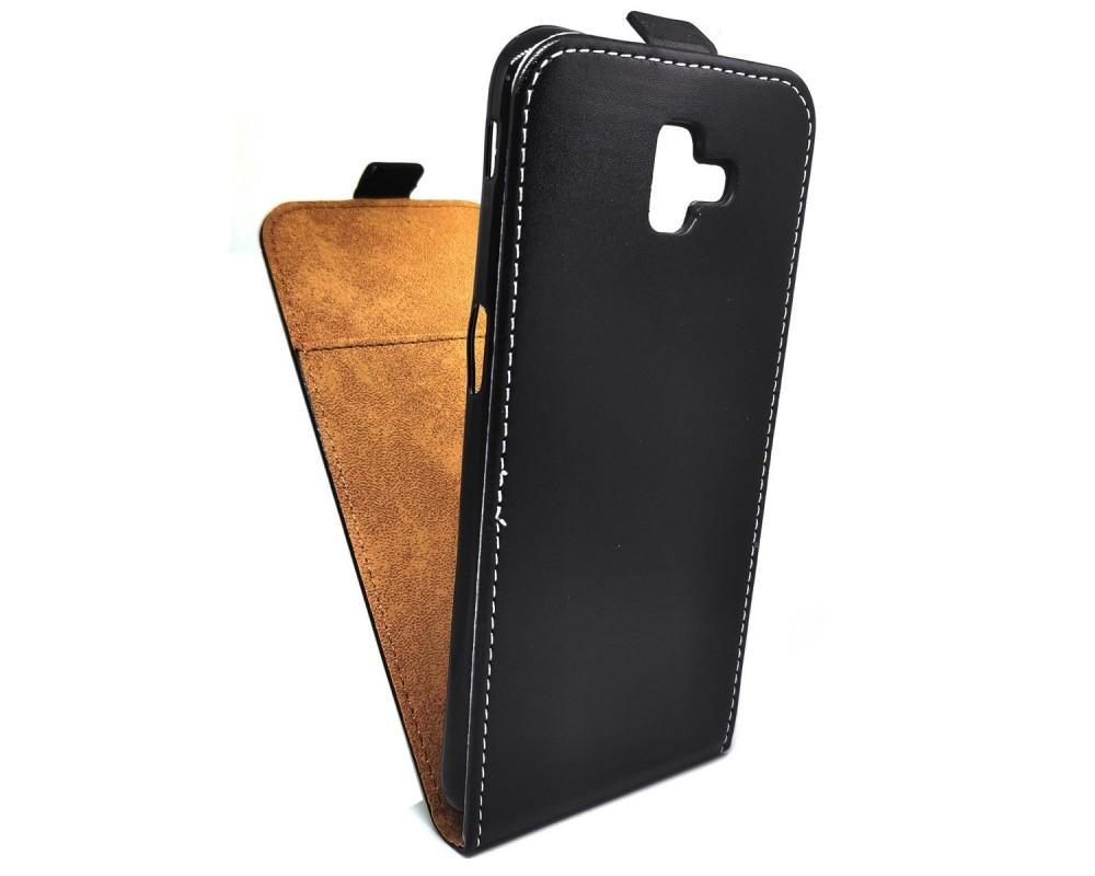 Funda Piel Premium Negra Ultra-Slim para Samsung Galaxy J6+ Plus