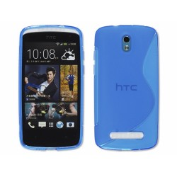 Funda Gel Tpu HTC Desire 500 S Line Color Azul