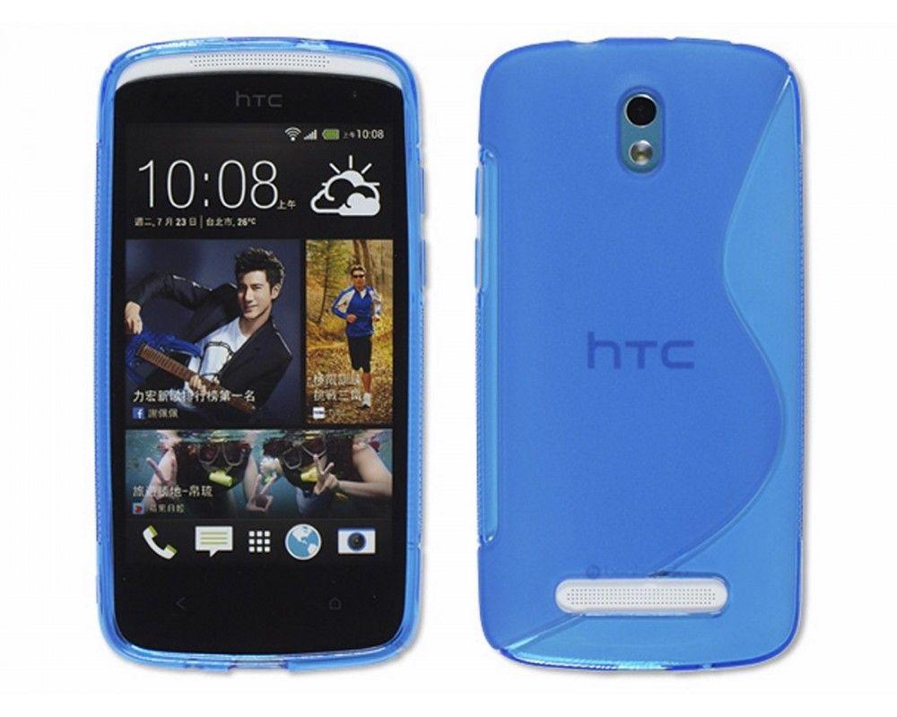 Funda Gel Tpu HTC Desire 500 S Line Color Azul