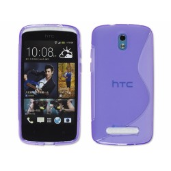 Funda Gel Tpu HTC Desire 500 S Line Color Morada