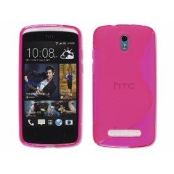 Funda Gel Tpu HTC Desire 500 S Line Color Rosa