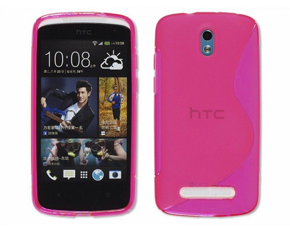 Funda Gel Tpu HTC Desire 500 S Line Color Rosa