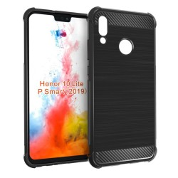 Funda Gel Tpu Anti-Shock Carbon Negra para Huawei P Smart 2019 / Honor 10 Lite