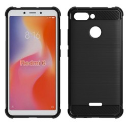 Funda Gel Tpu Anti-Shock Carbon Negra para Xiaomi Redmi 6