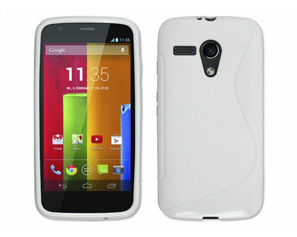 Funda Gel Tpu Motorola Moto G S Line Color Blanca