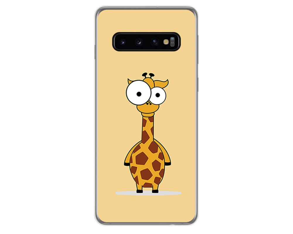 FUNDA de GEL TPU para Samsung Galaxy S10 diseño Jirafa Dibujos