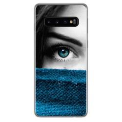 FUNDA de GEL TPU para Samsung Galaxy S10 diseño Ojo Dibujos