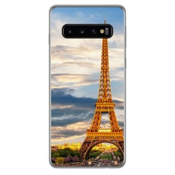 FUNDA de GEL TPU para Samsung Galaxy S10 diseño Paris Dibujos