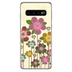FUNDA de GEL TPU para Samsung Galaxy S10 diseño Primavera En Flor Dibujos