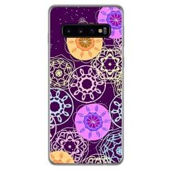 FUNDA de GEL TPU para Samsung Galaxy S10 diseño Radial Dibujos