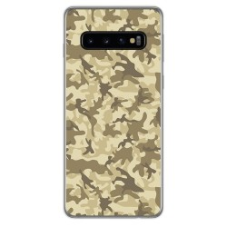 FUNDA de GEL TPU para Samsung Galaxy S10 diseño Sand Camuflaje Dibujos