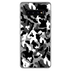 FUNDA de GEL TPU para Samsung Galaxy S10 diseño Snow Camuflaje Dibujos