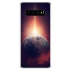 FUNDA de GEL TPU para Samsung Galaxy S10 diseño Tierra Dibujos