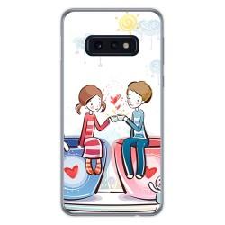 FUNDA de GEL TPU para Samsung Galaxy S10e diseño Café Dibujos