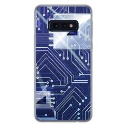 FUNDA de GEL TPU para Samsung Galaxy S10e diseño Circuito Dibujos