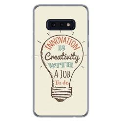 FUNDA de GEL TPU para Samsung Galaxy S10e diseño Creativity Dibujos