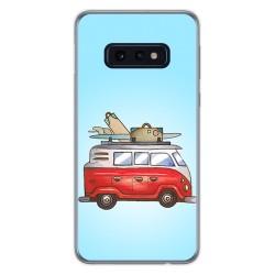 FUNDA de GEL TPU para Samsung Galaxy S10e diseño Furgoneta Dibujos