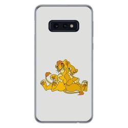 FUNDA de GEL TPU para Samsung Galaxy S10e diseño Leones Dibujos