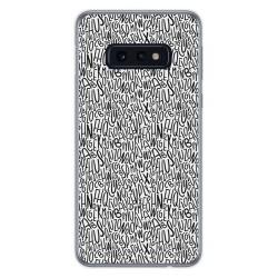 FUNDA de GEL TPU para Samsung Galaxy S10e diseño Letras Dibujos