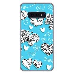 FUNDA de GEL TPU para Samsung Galaxy S10e diseño Mariposas Dibujos