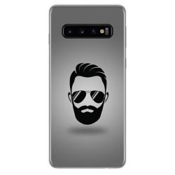 FUNDA de GEL TPU para Samsung Galaxy S10 Plus diseño Barba Dibujos