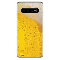 FUNDA de GEL TPU para Samsung Galaxy S10 Plus diseño Cerveza Dibujos