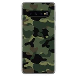 FUNDA de GEL TPU para Samsung Galaxy S10 Plus diseño Camuflaje Dibujos