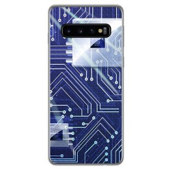 FUNDA de GEL TPU para Samsung Galaxy S10 Plus diseño Circuito Dibujos