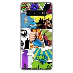 FUNDA de GEL TPU para Samsung Galaxy S10 Plus diseño Comic Dibujos