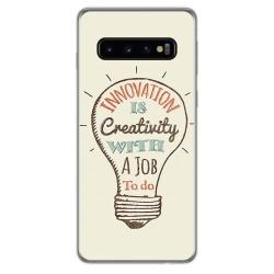 FUNDA de GEL TPU para Samsung Galaxy S10 Plus diseño Creativity Dibujos