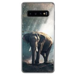FUNDA de GEL TPU para Samsung Galaxy S10 Plus diseño Elefante Dibujos
