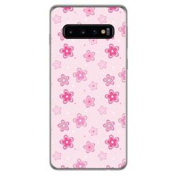 FUNDA de GEL TPU para Samsung Galaxy S10 Plus diseño Flores Dibujos