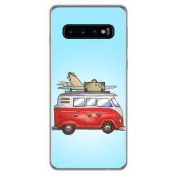 FUNDA de GEL TPU para Samsung Galaxy S10 Plus diseño Furgoneta Dibujos