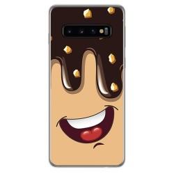 FUNDA de GEL TPU para Samsung Galaxy S10 Plus diseño Helado Chocolate Dibujos