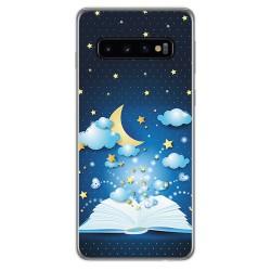 FUNDA de GEL TPU para Samsung Galaxy S10 Plus diseño Libro Cuentos Dibujos