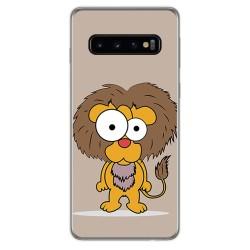 FUNDA de GEL TPU para Samsung Galaxy S10 Plus diseño Leon Dibujos