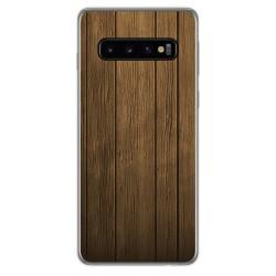 FUNDA de GEL TPU para Samsung Galaxy S10 Plus diseño Madera Dibujos