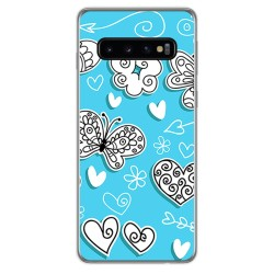 FUNDA de GEL TPU para Samsung Galaxy S10 Plus diseño Mariposas Dibujos