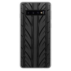 FUNDA de GEL TPU para Samsung Galaxy S10 Plus diseño Neumatico Dibujos
