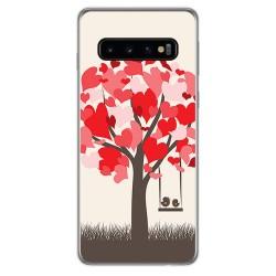 FUNDA de GEL TPU para Samsung Galaxy S10 Plus diseño Pajaritos Dibujos