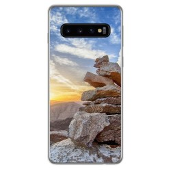 FUNDA de GEL TPU para Samsung Galaxy S10 Plus diseño Sunset Dibujos
