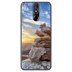 FUNDA de GEL TPU para Cubot Power diseño Sunset Dibujos
