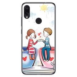 FUNDA de GEL TPU para Xiaomi Redmi Note 7 diseño Café Dibujos