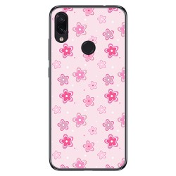 FUNDA de GEL TPU para Xiaomi Redmi Note 7 diseño Flores Dibujos