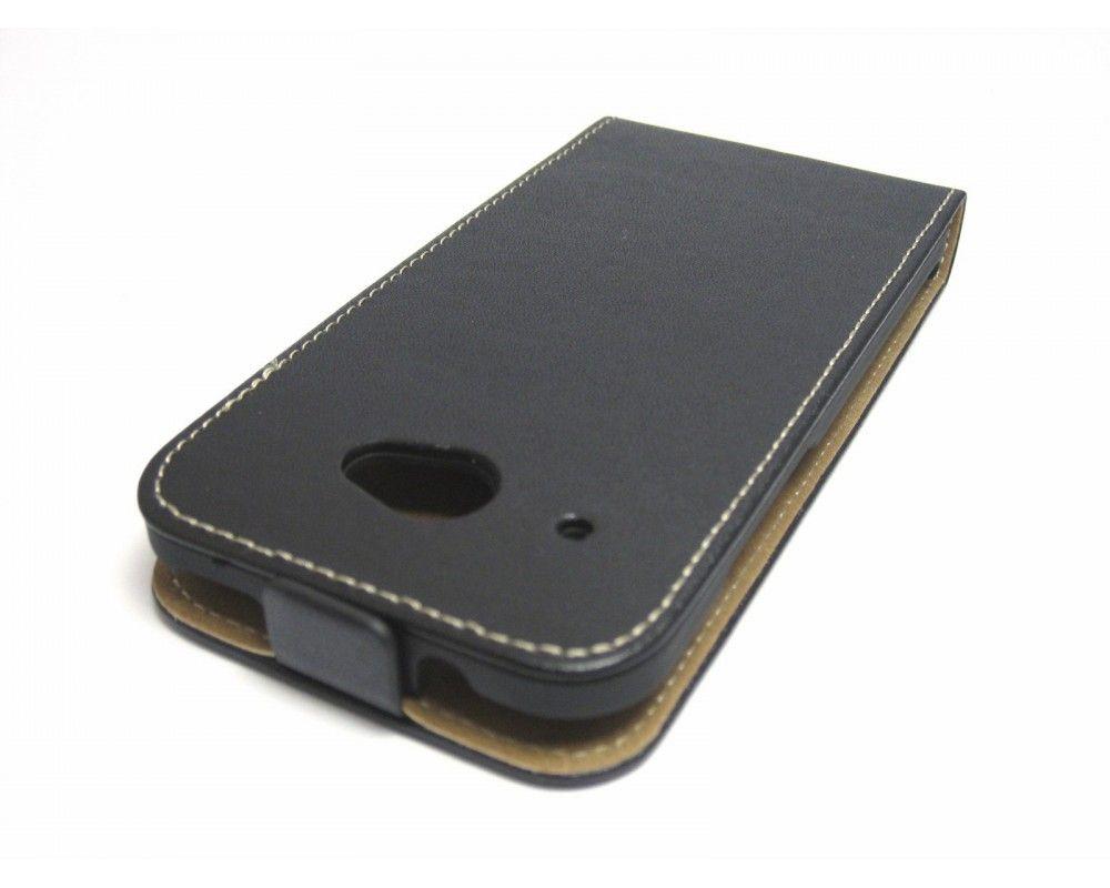 Funda Piel Premium Ultra-Slim HTC Desire 601 Negra