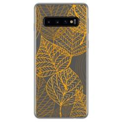 Funda Gel Transparente para Samsung Galaxy S10 diseño Hojas Dibujos